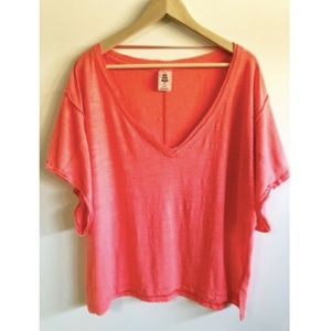 Free People XS Shirt We The Free Oversized Pink